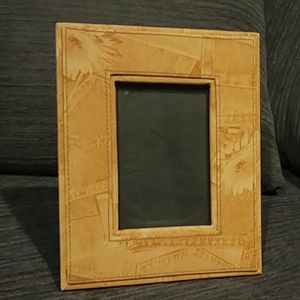 Other - Faux Jean Printed Photo Frame - 3.5x5.5in